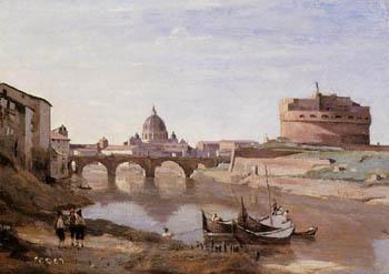 Jean Baptiste Corot Rome  Castle St Angelo