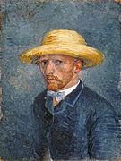 Vincent van Gogh Self Portrait with Straw Hat 1887