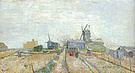 Vincent van Gogh Vegetable Gardens and the Moulin de Blute Fin on Montmartre 1887