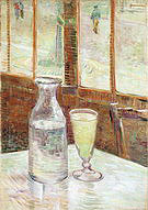 Vincent van Gogh Glass of Absinthe and a Carafe 1887