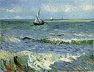 Vincent van Gogh The Sea at Les Saintes Maries de la Mer 1888