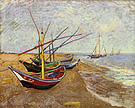 Vincent van Gogh Fishing Boats on the Beach at Saintes Maries de la Mer 1888