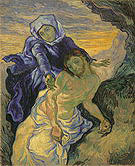 Vincent van Gogh Pieta after Delacroix 1889