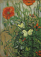 Vincent van Gogh Butterflies and Poppies 1890