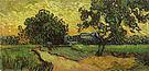 Vincent van Gogh Landscape at Twilight 1890