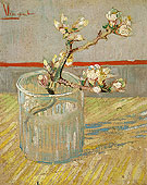 Vincent van Gogh Spring of Flowering Almond Blossom in a Glass 1888