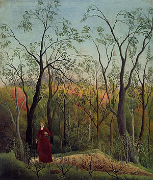 Henri Rousseau The Walk in the Forest about 1886