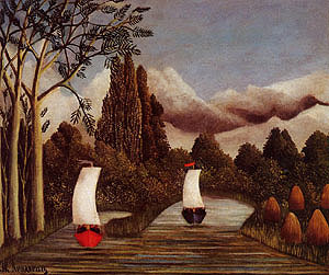 Henri Rousseau The Banks of the Oise 1908