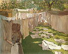 William Merritt Chase Wash Day A Back Yard Reminiscence of Brooklyn 1886