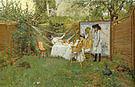 William Merritt Chase The Open Air Breakfast 1887