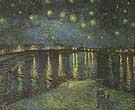 Vincent van Gogh Starry Night over the Rhone  1888