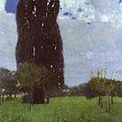 Gustav Klimt Tall Poplars I 1900