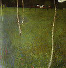 Gustav Klimt Farmhouse with Birch Trees (Young Birches) 1900
