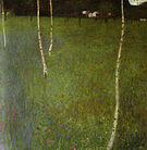 Gustav Klimt Farmhouse with Birch Trees (Young Birches) 1900
