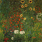 Gustav Klimt Farm Garden with Sunflowers 1907