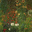 Gustav Klimt Farm Garden with Sunflowers 1907