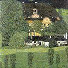 Gustav Klimt Schloss Kammer on the Attersee II 1909
