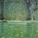 Gustav Klimt Pond at Schloss Kammer on the Attersee 1909