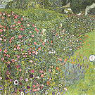 Gustav Klimt Italian Garden Landscape 1913