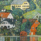 Gustav Klimt Houses at Unterach on the Attersee 1916