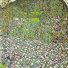 Gustav Klimt Garden Landscape with Hilltop 1916