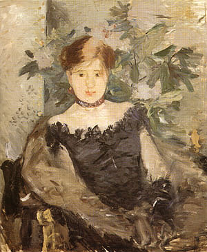 Berthe Morisot Woman in Black 1878
