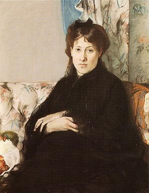 Berthe Morisot Portrait of Mme Pontillon 1871