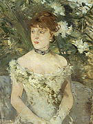 Berthe Morisot Young Woman Dressed for the Ball 1879