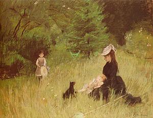 Berthe Morisot On the Lawn 1874