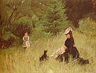 Berthe Morisot On the Lawn 1874