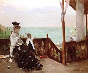 Berthe Morisot In a Villa at the Seaside 1874