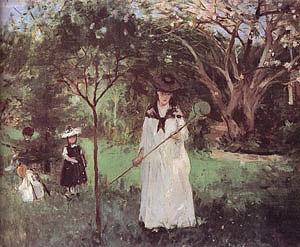Berthe Morisot Chasing Butterflies 1874