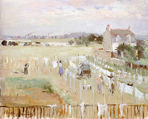 Berthe Morisot Hanging the Laundry out to Dry 1875