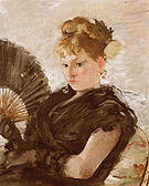 Berthe Morisot Woman with Fan (Head of a Girl) 1876