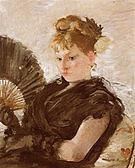 Berthe Morisot Woman with Fan (Head of a Girl) 1876