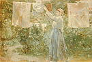 Berthe Morisot Peasant Hanging the Washing 1881