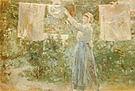 Berthe Morisot Peasant Hanging the Washing 1881