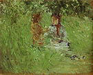 Berthe Morisot Woman and Child in the Garden at Bougival 1882