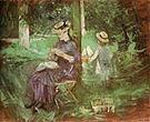 Berthe Morisot Woman and Child in a Garden 1884