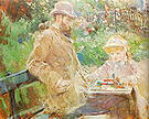 Berthe Morisot Eugene Manet and his Daughter at Bougival 1881
