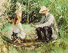 Berthe Morisot Eugene Manet and his Daughter in the garden 1883