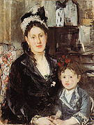 Berthe Morisot Portrait of Mme Boursier and her Daughter 1874