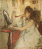 Berthe Morisot Young Woman Powdering her Face 1887