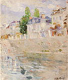 Berthe Morisot The Quay at Bougival 1883