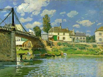 Alfred Sisley Bridge at Villeneuve-la-Gareene