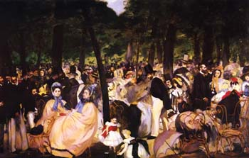 Edouard Manet Music in the Tuileries Gardens 1862