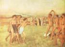 Edgar Degas Young Spartans 1860