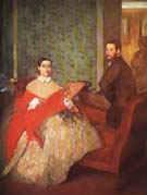 Edgar Degas Edmondo and Therese Morbilli 1865
