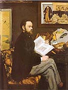 Edouard Manet Portrait of Emile Zola