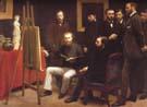 Henri Fantin Latour A Studio in the Batignolles 1870